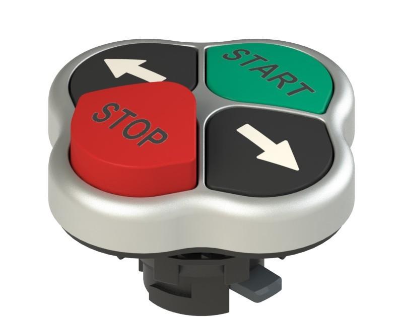 E2 1PQLA9QAAB Pizzato Elettrica Четверная кнопка