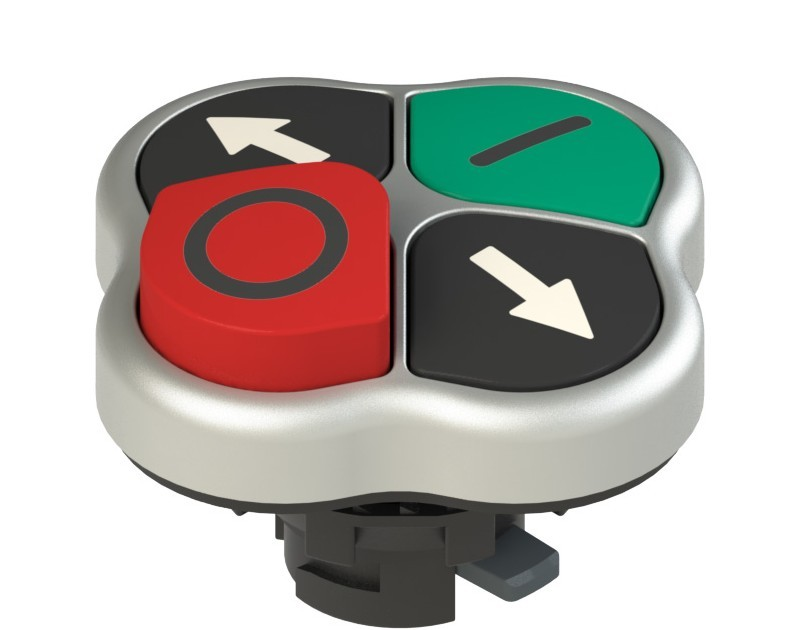 E2 1PQLA9QAAD Pizzato Elettrica Четверная кнопка