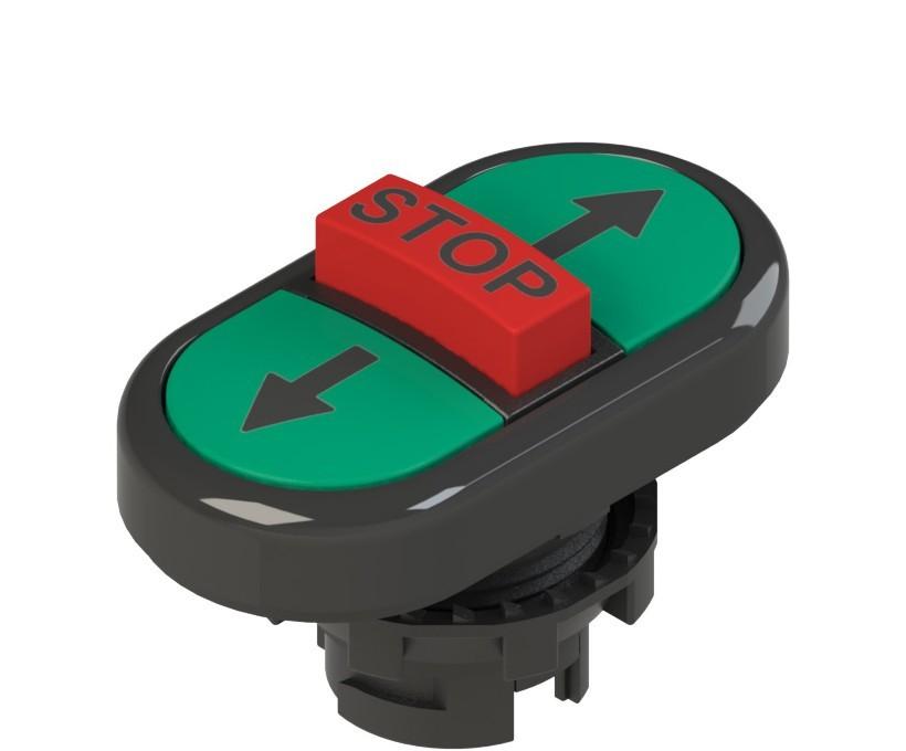 E2 1PTRS1AABA Pizzato Elettrica Тройная пониженная плоская кнопка, с маркировкой