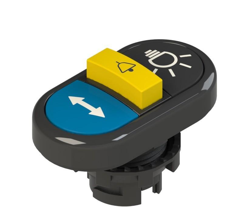 E2 1PTRS1AADK Pizzato Elettrica Тройная пониженная плоская кнопка, с маркировкой