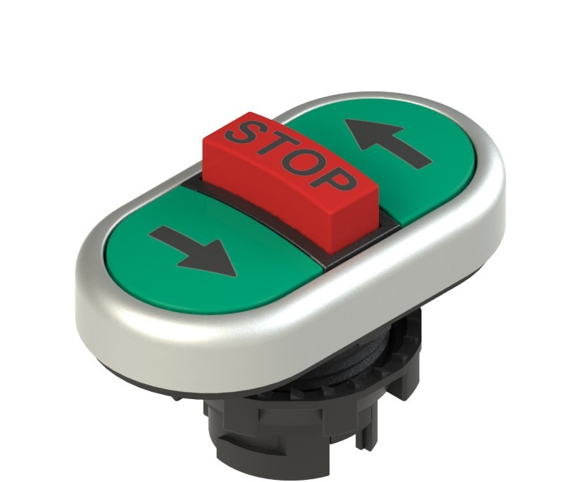 E2 1PTRS9AAAZ Pizzato Elettrica Тройная пониженная плоская кнопка, с маркировкой
