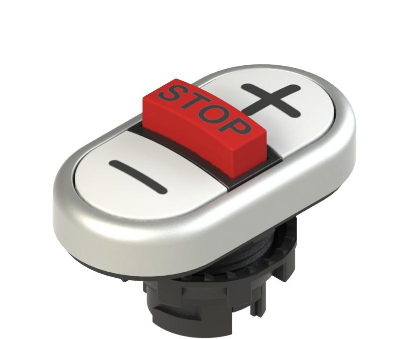 E2 1PTRS9AABC Pizzato Elettrica Тройная пониженная плоская кнопка, с маркировкой