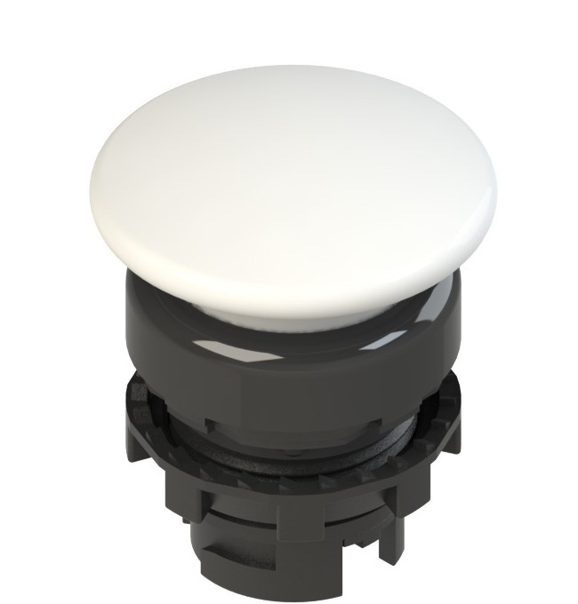 E2 1PU2F2410 Pizzato Elettrica Белая грибовидная кнопка с пружинным возвратом