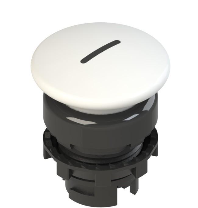E2 1PU2F241L2 Pizzato Elettrica Белая грибовидная кнопка с пружинным возвратом, с маркировкой