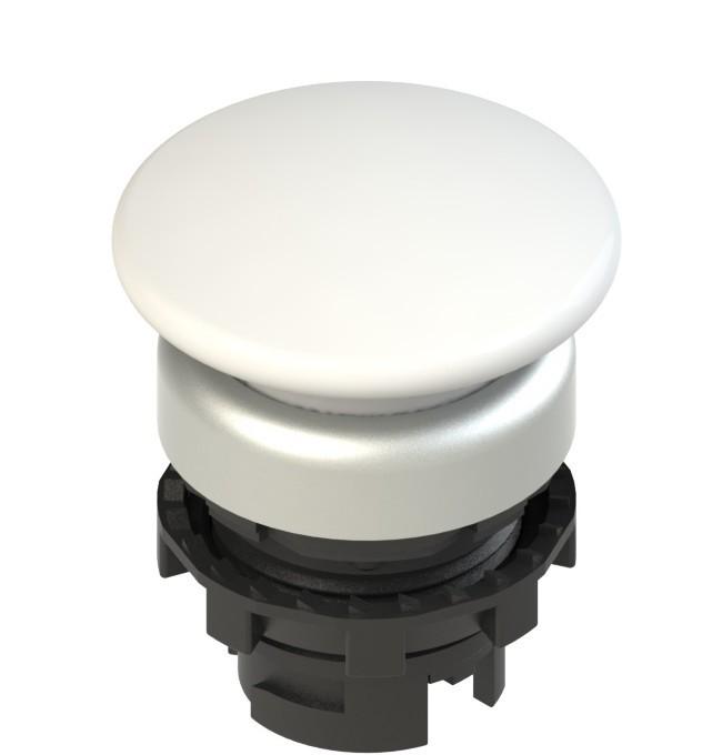 E2 1PU2F2490 Pizzato Elettrica Белая грибовидная кнопка с пружинным возвратом