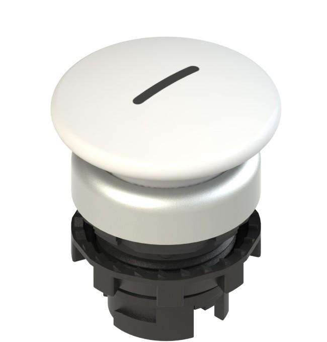 E2 1PU2F249L2 Pizzato Elettrica Белая грибовидная кнопка с пружинным возвратом, с маркировкой