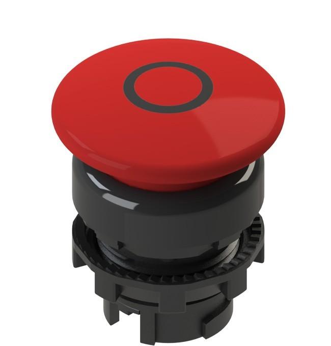 E2 1PU2F341L1 Pizzato Elettrica Красная грибовидная кнопка с пружинным возвратом, с маркировкой