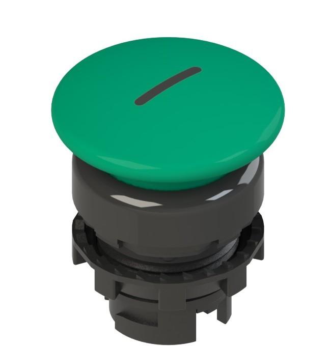 E2 1PU2F441L2 Pizzato Elettrica Зеленая грибовидная кнопка с пружинным возвратом, с маркировкой