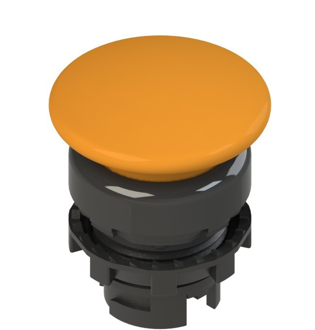 E2 1PU2F8410 Pizzato Elettrica Оранжевая грибовидная кнопка с подсветкой