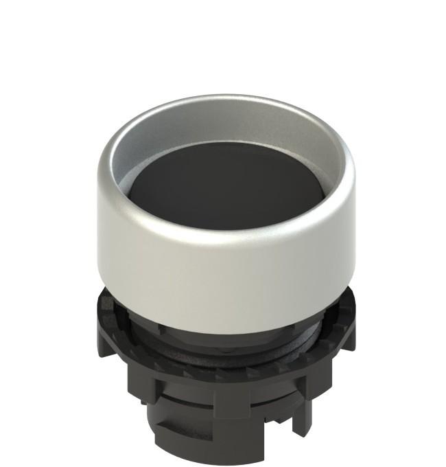E2 1PU2P1290 Pizzato Elettrica Черная вдавленная кнопка с пружинным возвратом