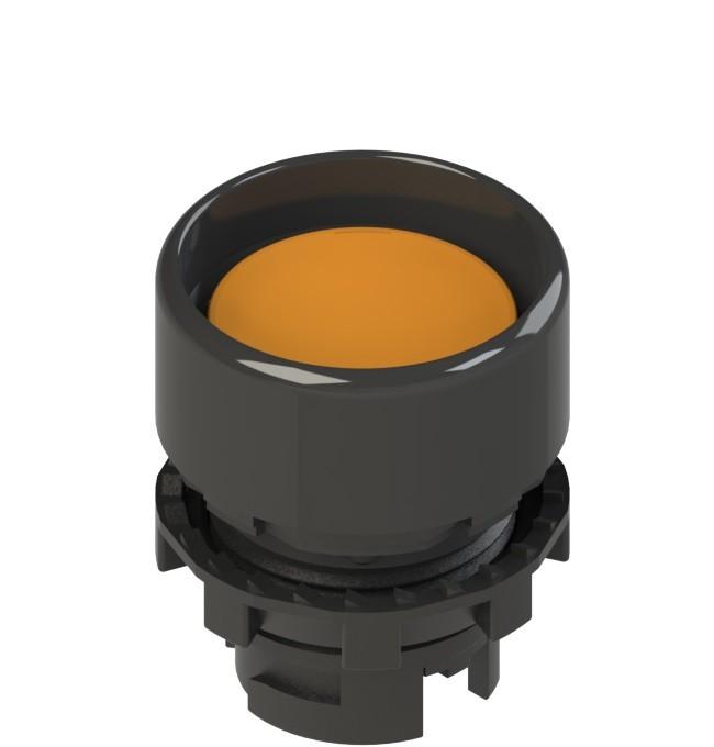E2 1PU2P8210 Pizzato Elettrica Оранжевая вдавленная кнопка с пружинным возвратом