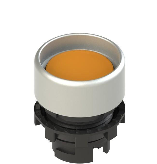 E2 1PU2P8290 Pizzato Elettrica Оранжевая вдавленная кнопка с пружинным возвратом