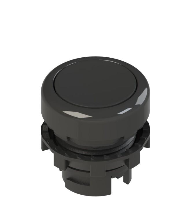 E2 1PU2R1210 Pizzato Elettrica Черная плоская кнопка с пружинным возвратом