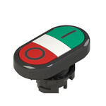 E2 1PDRL1AAAD Pizzato Elettrica Двойная пониженная плоская кнопка, с маркировкой