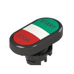 E2 1PDRL1AAAP Pizzato Elettrica Двойная пониженная плоская кнопка, с маркировкой