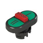 E2 1PTRS1AAAY Pizzato Elettrica Тройная пониженная плоская кнопка, с маркировкой