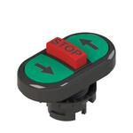 E2 1PTRS1AAAZ Pizzato Elettrica Тройная пониженная плоская кнопка, с маркировкой