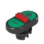 E2 1PTRS1AABB Pizzato Elettrica Тройная пониженная плоская кнопка, с маркировкой