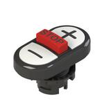 E2 1PTRS1AABC Pizzato Elettrica Тройная пониженная плоская кнопка, с маркировкой