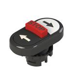 E2 1PTRS1AABD Pizzato Elettrica Тройная пониженная плоская кнопка, с маркировкой