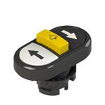E2 1PTRS1AABK Pizzato Elettrica Тройная пониженная плоская кнопка, с маркировкой