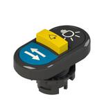 E2 1PTRS1AABQ Pizzato Elettrica Тройная пониженная плоская кнопка, с маркировкой