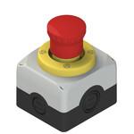 ES AC31431 Pizzato Elettrica Модуль сборный с корпусом, аварийной кнопкой, светящимся диском и контактами