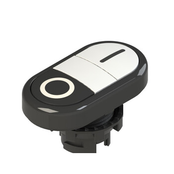 E2 1PDRL1AAAA Pizzato Elettrica Двойная пониженная плоская кнопка, с маркировкой