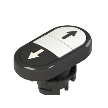 E2 1PDRL1AABN Pizzato Elettrica Двойная пониженная плоская кнопка, с маркировкой