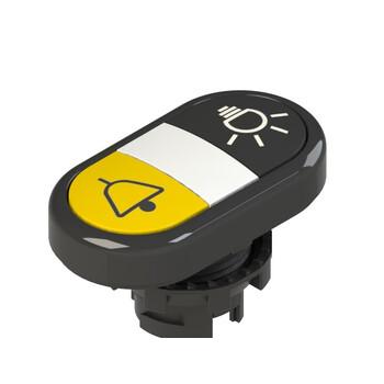 E2 1PDRL1AABR Pizzato Elettrica Двойная пониженная плоская кнопка, с маркировкой