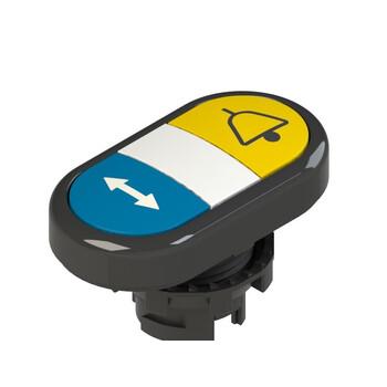 E2 1PDRL1AADJ Pizzato Elettrica Двойная пониженная плоская кнопка, с маркировкой