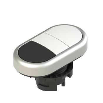 E2 1PDRL90221 Pizzato Elettrica Двойная пониженная плоская кнопка, без маркировки