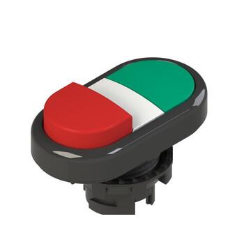 E2 1PDSL10423 Pizzato Elettrica Двойная пониженная выступающая кнопка, без маркировки