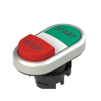 E2 1PDSL9AAAP Pizzato Elettrica Двойная пониженная выступающая кнопка, с маркировкой
