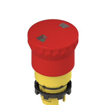 E2 1PEPF4531 Pizzato Elettrica Двухтактная аварийная кнопка с механическим индикатором