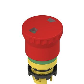 E2 1PEPF4731 Pizzato Elettrica Двухтактная аварийная кнопка с механическим индикатором с зеленой маркировочной пунктирной линией