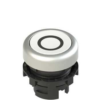 E2 1PL2R229L1 Pizzato Elettrica Белая плоская кнопка с подсветкой с маркировкой
