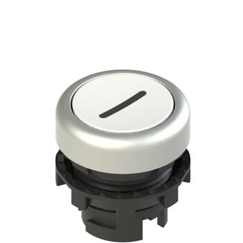 E2 1PL2R229L2 Pizzato Elettrica Белая плоская кнопка с подсветкой с маркировкой