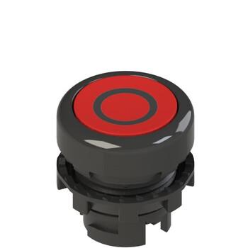 E2 1PL2R321L1 Pizzato Elettrica Красная плоская кнопка с подсветкой с маркировкой