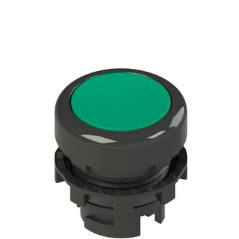 E2 1PL2R4210 Pizzato Elettrica Зеленая плоская кнопка с подсветкой