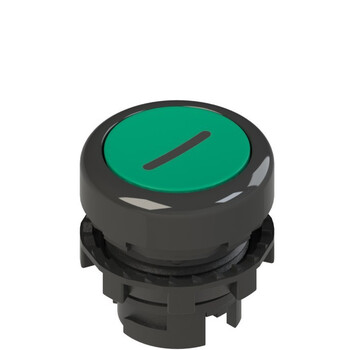 E2 1PL2R421L2 Pizzato Elettrica Зеленая плоская кнопка с подсветкой с маркировкой