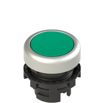 E2 1PL2R4290 Pizzato Elettrica Зеленая плоская кнопка с подсветкой