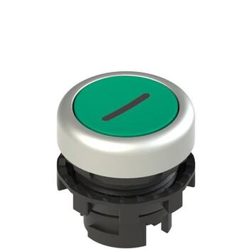 E2 1PL2R429L2 Pizzato Elettrica Зеленая плоская кнопка с подсветкой с маркировкой