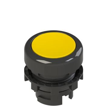 E2 1PL2R5210 Pizzato Elettrica Желтая плоская кнопка с подсветкой