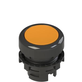 E2 1PL2R8210 Pizzato Elettrica Оранжевая плоская кнопка с подсветкой