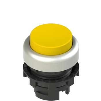 E2 1PL2S5290 Pizzato Elettrica Желтая выступающая кнопка с подсветкой