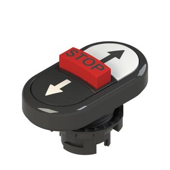 E2 1PTRS1AABE Pizzato Elettrica Тройная пониженная плоская кнопка, с маркировкой