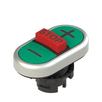 E2 1PTRS9AABB Pizzato Elettrica Тройная пониженная плоская кнопка, с маркировкой