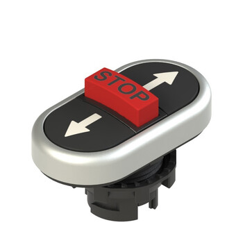 E2 1PTRS9AABF Pizzato Elettrica Тройная пониженная плоская кнопка, с маркировкой