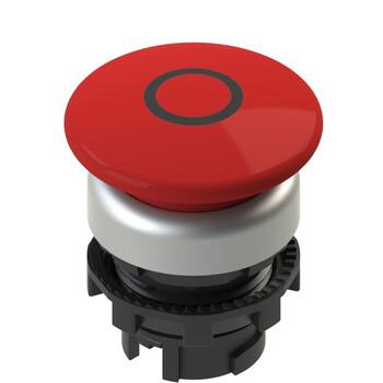 E2 1PU2F349L1 Pizzato Elettrica Красная грибовидная кнопка с пружинным возвратом, с маркировкой